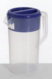 Jug Clear With Blue Lid - 2.5 Litres