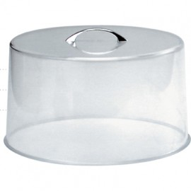 Chef Inox Clear Cake Cover With Chrome Handle – 300X185Mm