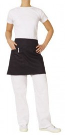 1/2 Waist Black Apron with Pocket