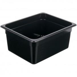 1/2 Size - Polycarbonate Steam Food Pan Black - 100mm deep