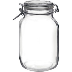 Bormioli Rocco Fido Jar With Clear Lid – 2.13 Litre