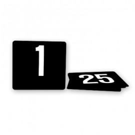White on Black Table No. Set - 1 to 100
