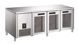 Glacian BCG61885 Slimline 660mm Deep 3 Glass Door Underbench Refrigerator