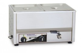 Roband BM2 - Countertop Bain Marie, fits two 1/2 size pans, pans not included