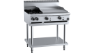 B & S (B+S) BT-SB2-GRP6 Black Combination Two Open Burners & 600mm Grill Plate