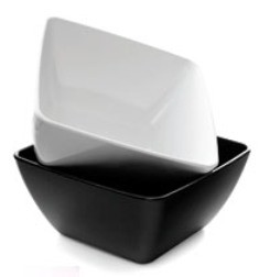 MTA Square Bowl - 250 x 250 x 100mm - Black