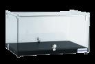 Exquisite CD35-B One Tier Flat Glass Ambient Cake Display - Woodgrain Black