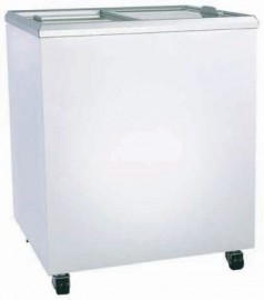 Bromic CF0300FTFG Flat Glass Top 296L Display Chest Freezer