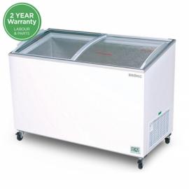 Bromic CF0400ATCG Angled Glass Top 350L Chest Freezer