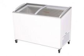 Bromic CF0400ATCG Angled Glass Top 352L Display Chest Freezer