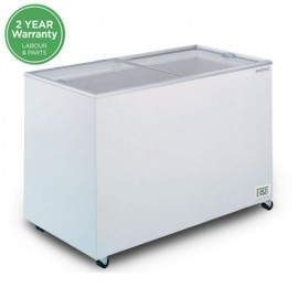 Bromic CF0400FTFG Flat Glass Top 401L Chest Freezer