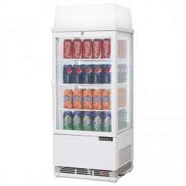Bromic CT0080G4LW Flat Glass 78L LED with Lightbox Countertop Beverage Chiller