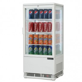 Bromic CT0080G4W Flat Glass 78L LED Countertop Beverage Chiller