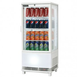 Bromic CT0080G4WC Curved Glass 82L LED Countertop Beverage Chiller