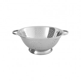 Chef Inox 5.0Lt Colander With Wire Handle (4Mm Holes) – 285X102Mm