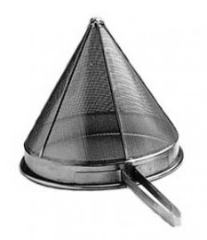 "Stainless Steel Conical Strainer 23cm 9"" Fine"