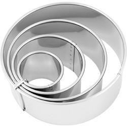 Chef Inox 4pce Plain Cutter Set – 38-110mm