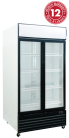 Exquisite DC1000P Two Glass Doors Upright Display Refrigerators