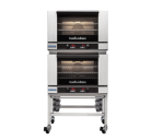 Turbofan E27D3/2C - Full Size Digital Electric Convection Ovens Double Stacked on a Stainless Steel Base Stand