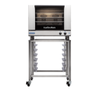 Turbofan E28M4/2C - Full Size Tray Manual Electric Convection Ovens Double Stacked With Castor Base Stand