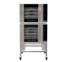 Turbofan E30M3/2 - Double Stacked - GN 1/1 Manual / Electric Convection Ovens Double Stacked on a Stainless Steel Base Stand