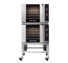 Turbofan E31D4/2C - Half Size Tray Digital Electric Convection Ovens Double Stacked With Castor Base Stand