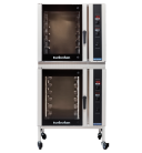 Turbofan E35D6-30/2C - Full Size Digital / Electric Convection Ovens with Castor Base Stand Double Stacked