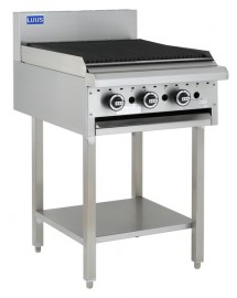 Luus BCH-6C 600mm Chargrill with legs & shelf