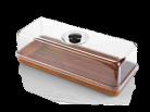 Evelin Rectangular Platter & Cover Set - 390x160x130mm