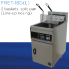Goldstein FRET-18DL (FRET18DL) Split Pan Electric Rapid Fryer