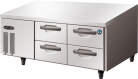 Hoshizaki RTL-140DDAC Four Drawer Stainless Steel Counter Refrigerator