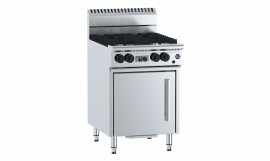 B & S OV-SB4-CBR3 - Oven with 300mm Char Broiler & Four Open Burners