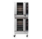 Turbofan G32D4/2C - Full Size Tray Digital Gas Convection Ovens Double Stacked With Castor Base Stand