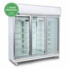 Bromic GD1500LF 1507L LED Three Flat Glass Door Display Refrigerator