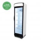 Bromic GM0374LB LED 372L LED Single Curved Glass Door Display Refrigerator - Black