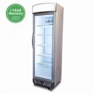 Bromic GM0374L LED ECO 372L LED Single Flat Glass Door Display Refrigerator - White