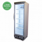 Bromic GM0374 LED ECO 372L LED Single Flat Glass Door Display Refrigerator
