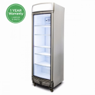 Bromic GM0400LC LED 380L LED Single Curved Glass Door Display Refrigerator