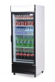 Bromic GM0660LW LED ECO Flat Glass Door 660L Upright Display Refrigerator with Lightbox (White)
