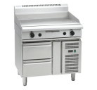 Waldorf 800 Series GP8900G-RB - 900mm Gas Griddle Refrigerated Base