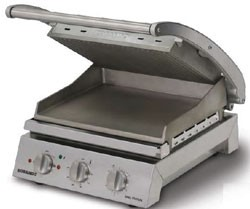 Roband GSA810RT - Grill Station, ribbed top plate and smooth bottom plate, non-stick