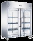 Exquisite GSC1410G Two Glass Doors Upright Storage Refrigerators