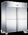 Exquisite GSC1412H Two Split Solid Doors Upright Storage Refrigerators