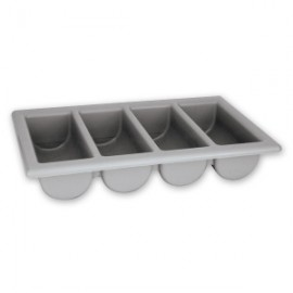 Gastronorm Cutlery Box - 4 Compartment - Grey