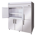 Hoshizaki HFE-187B-AHD-ML Stainless Steel Pillarless Two Split Door Upright Freezer, 1713L