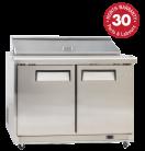 Exquisite ICC400H Two Doors Food Preparation Refrigerators