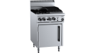 B & S (B+S) OV-SB2-CBR3 Black Oven with 300mm Char Broiler & Two Open Burners