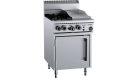 B & S (B+S) OV-SB2-GRP3 Black Oven with 300mm Grill Plate & Two Open Burners