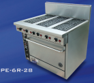 Goldstein PE-2S-24G-28 (PE2S24G28) Electric Range, 2 x Solid Plates, 610mm Griddle, Electric Oven