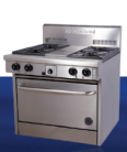 Goldstein PF-4-28 (PF428) 4 Burner Wide Body Gas Range